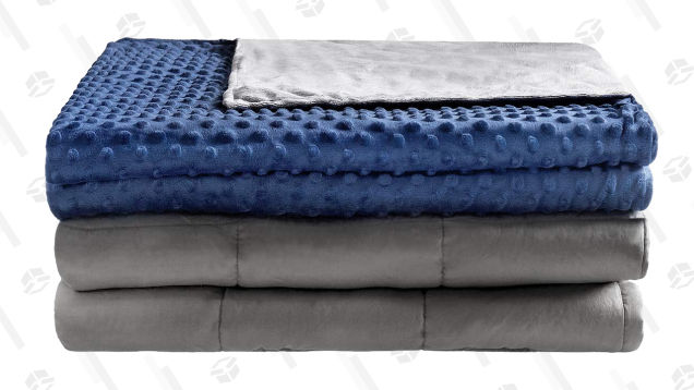 Squish Your Anxieties Away With This 20-Pound Weighted Blanket