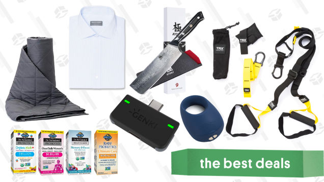 Saturday's Best Deals: Indochino Shirts, Sex Toys, Weighted Blankets and More
