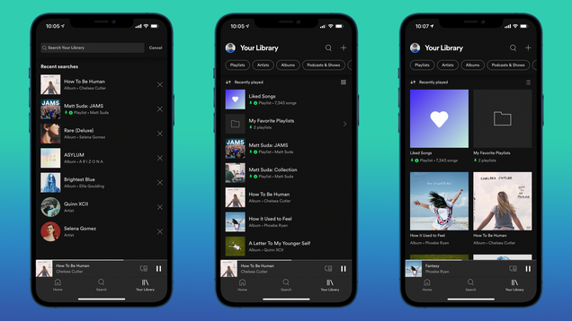 The Best Features of Spotify's New 'Your Library' Tab